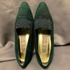 Mootsies Tootsies Green Suede Pumps. Size 6